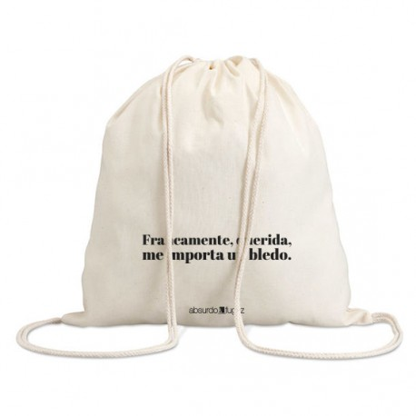 """Bolsa saco """"un bledo"""""""